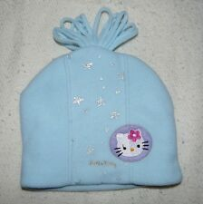 Girls One Size Fits Most HELLO KITTY Lt. Blue Fleece Winter Hat Excellent Cond