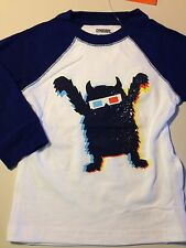 Gymboree Junior Stunt Double 3D Monster Raglan Shirt & Crew Socks NWT Boys Sz 2T