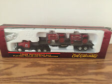 IH 756 Tractors on 1948 Peterbilt Tractor Flat Bed Trailer HO scale by Ertl