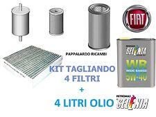 KIT TAGLIANDO 4 FILTRI + 4 LITRI OLIO SELENIA FIAT DOBLO 1.6 Multijet Diesel