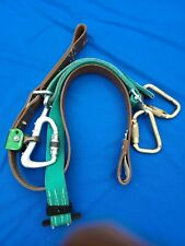 "Buckingham 488WQ4 SuperSqueeze Climbing Belt 44"" outer 70"" inner, w/3 carabiners"