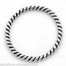 """W09  50PCs Circle Hoop Ring Connectors/Pendants Silver Tone 18mm(6/8"""")Dia."""