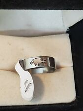 Size 9 Stainless Steel Ring Handmade Arrow Hearts Love Theme Jewelry Fashion