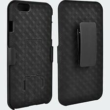 "Apple iPhone 6- 6S (4.7"") Shell Holster Combo Case with Kick-Stand & Belt Clip"
