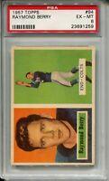 1957 Topps Football #94 Raymond Berry Rookie Card RC Graded PSA Ex Mint 6 Colts