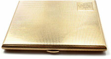 Rare! Antique Vintage English 375 9k Yellow Gold Cigarette Holder Case