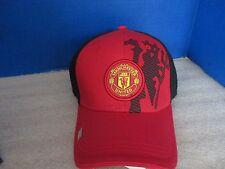 Rhinox~Red w/ Black MANCHESTER UNITED Adjustable Cap / Hat~Soccer Futbol~NWT
