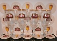 Set Of 4 Stella Artois Chalice PINT Glasses Brand New 100% Gen Nucleated