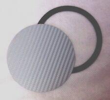 TAX DISC & PARKING PERMIT HOLDER MAGNETIC - Carbon Fibre Effect Silver