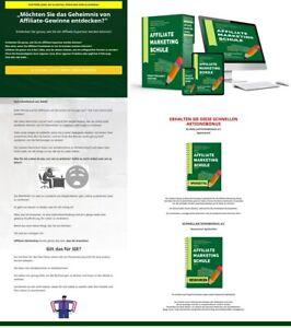 Affiliate Marketing Schule - eBook, Verkaufsseite - PLR Lizenz Komplettpaket