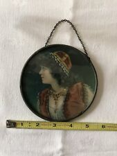 Beautiful Antique Victorian Flue Cover Lovely Lady 4 3/4 Inches
