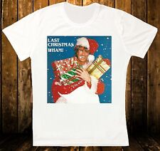 WHAM LAST CHRISTMAS GEORGE MICHAEL RETRO VINTAGE HIPSTER UNISEX T SHIRT 918
