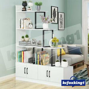 Bookcase Display Shelf Storage Cabinet Home Bookshelf 5 Level Ladder White 120cm