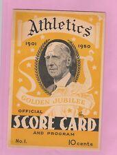 1850 Phila. A's VS Boston Program/Scorecard  Unscored Ted Williams, Pesky, Doerr