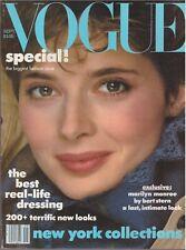 1982 September Vogue Vintage Magazine Gia Carangi Marilyn Monroe Halston 1980s