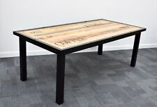 Industrial style Dining table Solid timber and solid steel