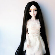 Lovely 1/3 BJD SD Doll Wig DZ DOD LUTS Long Straight Full Wig Natural Black New
