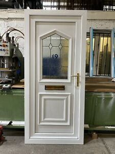SECOND HAND UPVC DOOR REFURBISHED, White, 915mm Wide By 2015mm Height (D212)