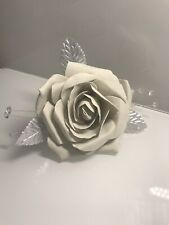 Christmas Tree Clip On Foam Roses Rose Light Grey Silver