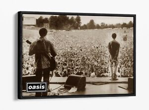LIAM GALLAGHER OASIS KNEBWORTH -FLOAT EFFECT CANVAS WALL ART PIC PRINT-