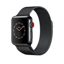 Apple Watch Series 3 GPS + Cell 38mm Space Black Stainless Steel Case w MR1Q2B/A