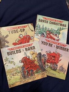 TRACTOR MAC LOT OF 4 USED BOOKS BY BILLY STEERS, HARDCOVERS