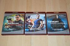 lot 3 HD DVD trilogie Jason Bourne : mémoire dans la peau, veangeance, mort