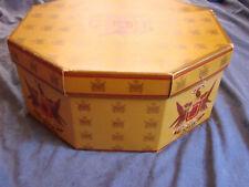 Vintage Mens Hat Box Knox Octagonal Gc 2pc Insert