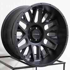 20x10 Vision 388 Shadow 6x5.5/6x139.7 -25 Satin Black Wheels Rims Set(4)