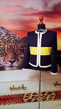 ESCADA Margaretha Ley GR.36  Damen Jacke schwarz gelb creme- women's jacket