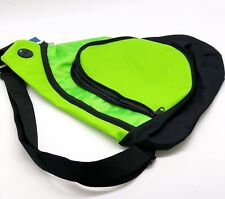 Port Authority Honeycomb Sling Pack -Green Black Zipper Cross Body Messenger NEW