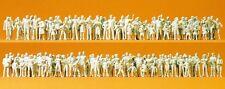 Preiser 16343 Passer-by, Spectators, 130 unpainted miniature figures H0 1/87