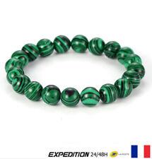 Bracelet Perle Malachite Pierre Naturelle Protection Lithothérapie 8 mm