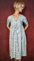 Misslook Dress S V-Neck Empire Waist Tassels Boho Crochet Casual Work Clothes