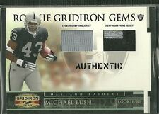MICHAEL BUSH 07 DONRUSS GRIDIRON GEAR ROOKIE GEMS DUAL PATCH JERSEY 43/50