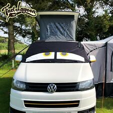 VW T5 Black Out Blinds Window Screen Cover Curtain Wrap Frost Eyes Yellow