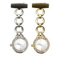 Large Face Nurse Crystal Dial Stainless Brooch Fob Watch Nursing Pendant Pocket