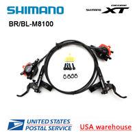 Shimano XT Bl BR-M8000 M8100 Hydraulique Disque Set Frein Leviers Paire avant