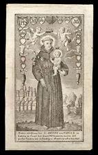 HL.ANTONIUS von PADUA zu KALTERN in TIROL Kupferstich 18. Jh.