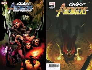 SAVAGE AVENGERS #13 BOSS LOGIC VARIANT SET DUGGAN ZIRCHER MARVEL COMIC 10/28