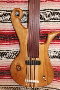 "Bass Fretless 6 String Cherry Claw Wishbass Regular 34"" Scale Soapbar"