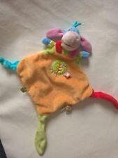 Doudou Bourriquet Plat orange arbre oiseau NICOTOY Disney noeuds Comme Neuf