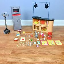 Barbie I CAN BE A TV CHEF Kitchen Playset With Accessories Food VGUC HTF