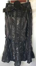 DINA BAR-EL Black Dress Sz S Cocktail 2 Piece Gown Sexy  France