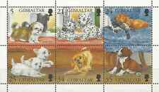 Timbres Chiens Gibraltar 758/63 ** année 1996 lot 7729
