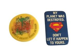 Justice League and Superman Button Pin Set of 2 Pins