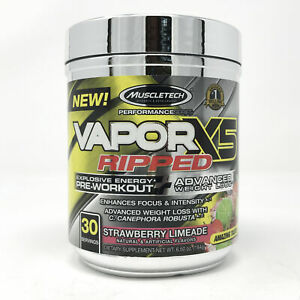 MuscleTech Vapor X5 Ripped Strawberry Limeade 30 Serving
