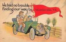 Morrisville Vermont Humor Prospector Early Auto Antique Postcard K84835