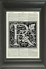 ORIGINAL - Letter R Alphabet Vintage Dictionary Art Print Personalised Gift 539D