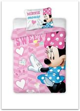 NEW Minnie Mouse Dreams Baby pink Toddler Bedding Set 100% COTTON Cot Cotbed 05